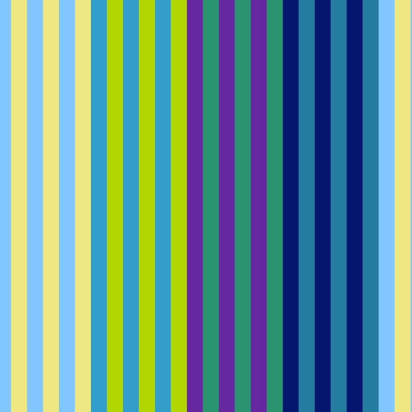 All Lined Up by Judy Gauthier - Narrow Stripe Blue/Green - Y408 - Daz Fabrics