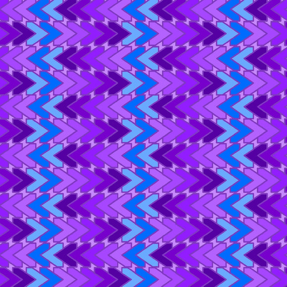 All Lined Up by Judy Gauthier - Chevron Blue/Purple - Y410 - Daz Fabrics