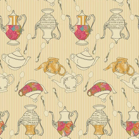 Splendor Collection by Art Gallery - Tea Delights Honey - Yardage - Daz Fabrics