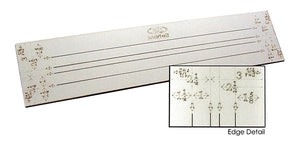 "Martelli Notions - 24"" Strip Ruler with Multiple Widths - 19"" Slot/Strip Length - Daz Fabrics"