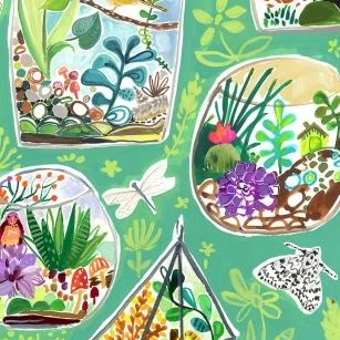 Midsummer Dream by August Wren - Terrariums - Yardage - Daz Fabrics