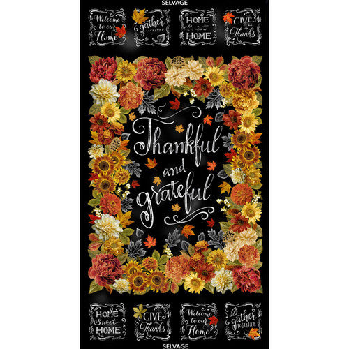 Thankful Collection by Timeless Treasures - Thankful and Grateful  -  24