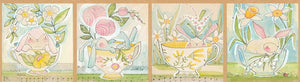 The Promise Of Spring by Cori Dantini - Tea with Bunny - Panel - Daz Fabrics