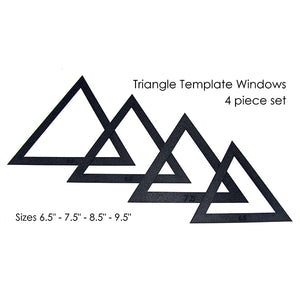 "Martelli Notions - Large Triangle Fussy Cut 4 Piece Window Set  - 6.5"" - 9.5"" - Daz Fabrics"