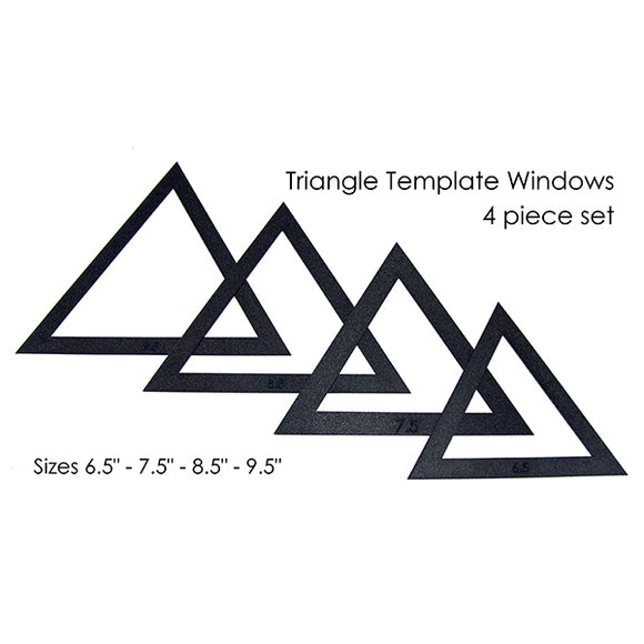 Martelli Notions - Large Triangle Fussy Cut 4 Piece Window Set  - 6.5