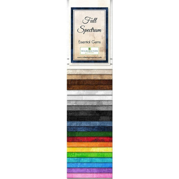 Full Spectrum Collection by Wilmington Prints - Essential Gems - 24 PC Jelly Roll Gems - Daz Fabrics