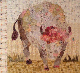 White Buffalo Collage by Laura Heine - Pattern