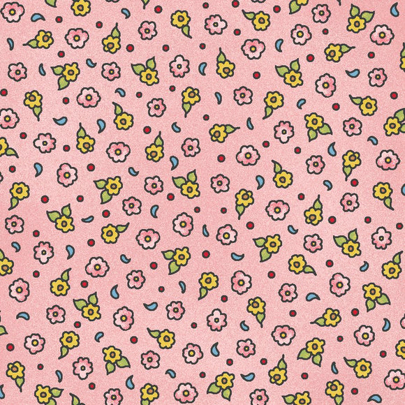 Forest Friends Collection by Kris Lammers - Tiny Calico Pink - Yardage - Daz Fabrics
