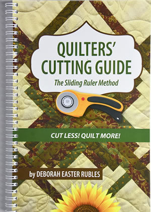 Quilters' Cutting Guide - The Sliding Ruler Method Book - N96 - Daz Fabrics