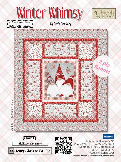 Winter Whimsy Pattern - Click on RED LINK in Product Description, below Paypal button,  to receive pattern - Daz Fabrics