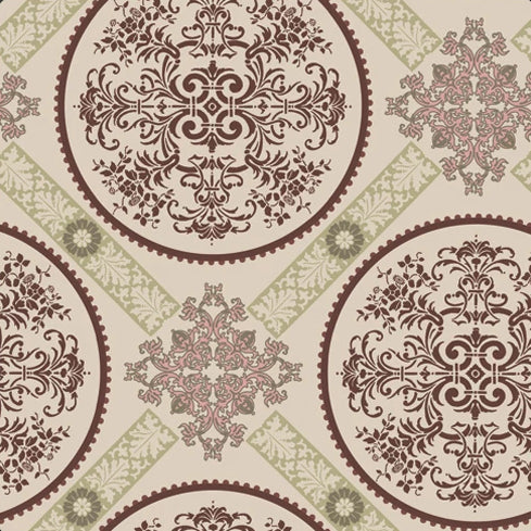Dashing Roses Collection by Art Gallery - Brilliant Medallions - Y2299 - Daz Fabrics