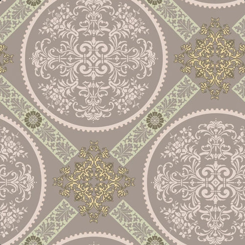 Dashing Roses Collection by Art Gallery - Dusty Medallions - Yardage - Daz Fabrics