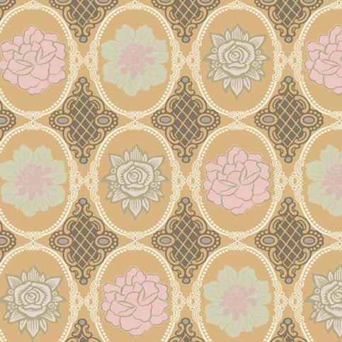 Dashing Roses Collection by Art Gallery - Amber Antique Opals - Y2298 - Daz Fabrics