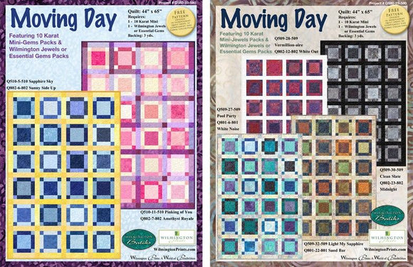 Moving Day- Click on RED LINK in Product Description, below Paypal button,  to receive pattern - Daz Fabrics