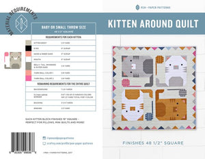 Kitten Around Quilt Pattern by Pen+Paper Patterns - Pattern - Daz Fabrics