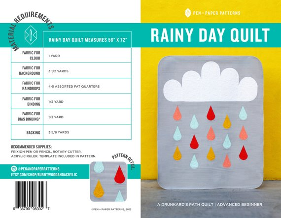 Rainy Day Quilt Pattern by Pen+Paper Patterns - Pattern T83 - Daz Fabrics