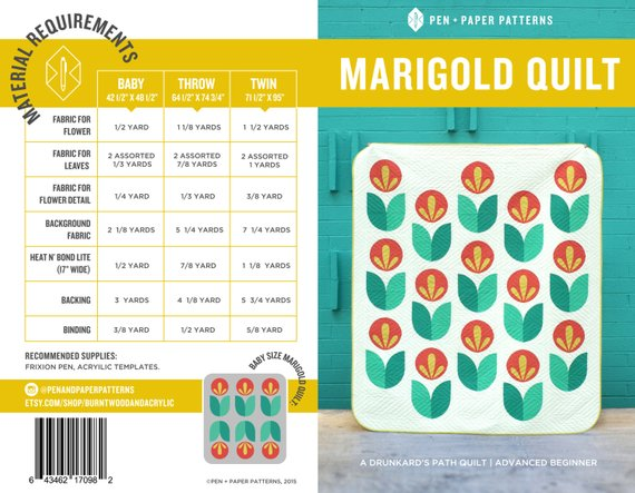 Marigold Quilt Pattern by Pen+Paper Patterns - Pattern
