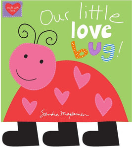 "Huggable & Loveable  - Love Bug - 36"" Book Panel - Daz Fabrics"