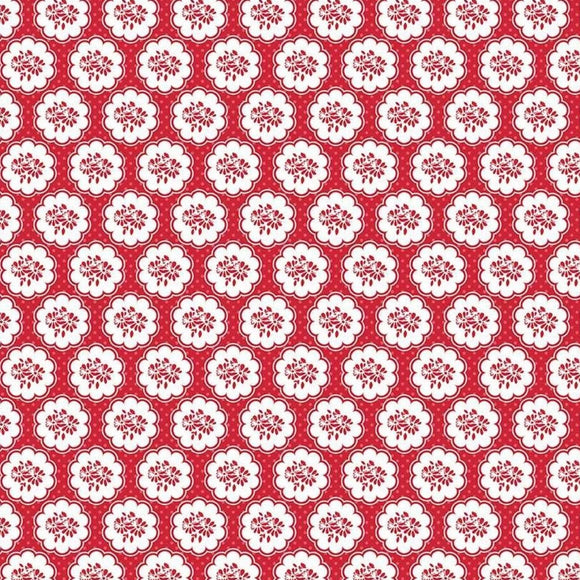 So Ruby by Riley Blake  Designs - Scallop Red P427 - Daz Fabrics