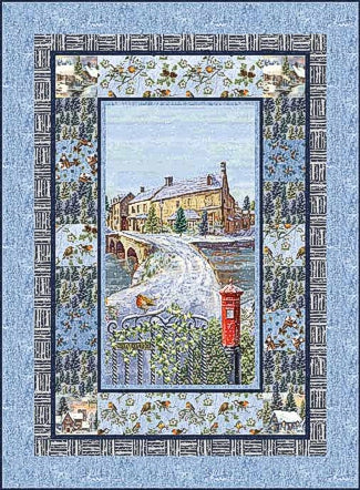 Winter Cottage Pattern by Marcello Corti - Click Link (IN RED) Below to Receive Free Pattern - Daz Fabrics