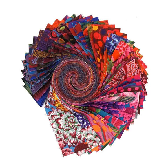 August 2020 Collective by Kaffe Fassett - Hot - 40 PC Jelly Roll - P139 - Daz Fabrics