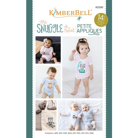 KimberBell - The Snuggle Is Real - Petite Appliques CD - T31 - Daz Fabrics