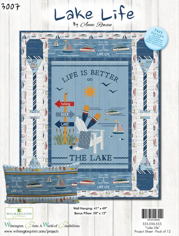 Lake Life by Anne Rowan - Life is Better on the Lake Kit - Pattern - Daz Fabrics