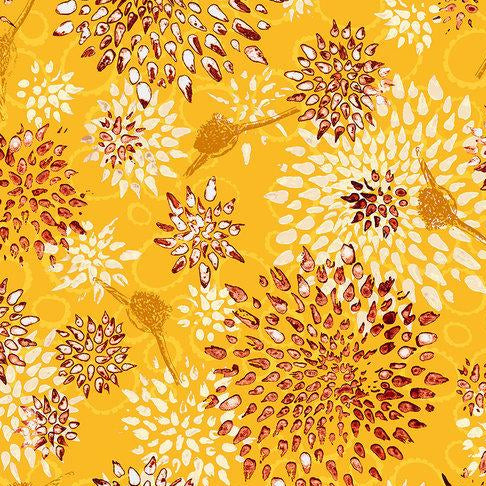 Pollinator Collection by Leslie Tucker Jenison - Allium - Orange Slice - Yardage