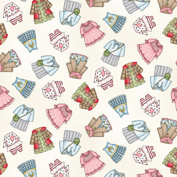 Forest Friends Collection by Kris Lammers - Girl Clothes Neutral - Yardage - Daz Fabrics