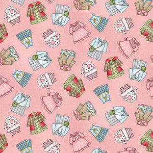 Forest Friends Collection by Kris Lammers - Girl Clothes Pink - Yardage - Daz Fabrics