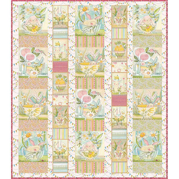 Menagerie Quilt Kit - The Promise of Spring Fabrics - Kit