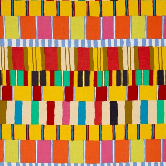 Artisan Yellow Layered Stripe by Kaffe Fassett - Y541 - Daz Fabrics