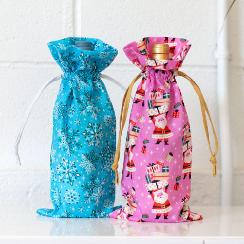 Bottle Gift Bag Pattern - Click Link (IN RED) Below to Receive Free Pattern - Daz Fabrics
