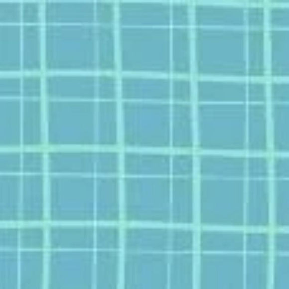My Cup of Tea by Windham Fabrics - Playful Plaid Sky - Y211 - Daz Fabrics