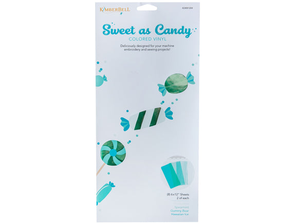 KimberBell - Sweet As Candy Colored Vinyl: Blues & Greens - N18 - Daz Fabrics