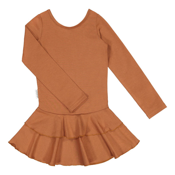 gugguu Frilla Dress Dresses Brown Sugar 62