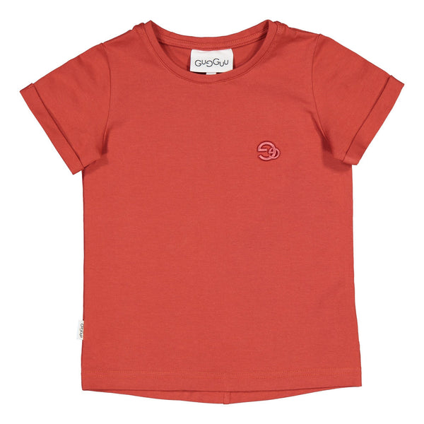 gugguu Gg Logo T-shirt Shirts Spicy red 80