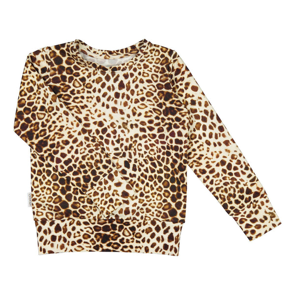 gugguu Print College sweatshirt Hoodies and sweatshirts Latte Leopard Dots 80