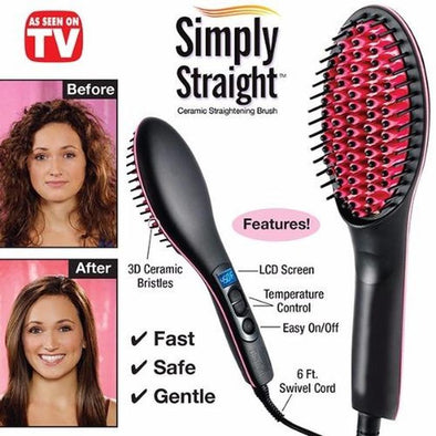 (SAVE 50% OFF)2-in-1 SIMPLY BRUSH TO SMOOTH AND STRAIGHTEN