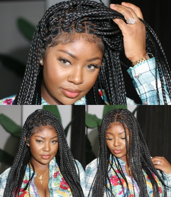 New Arrival-2020 Hand-Braided Box Braid Wig(28 Inches)