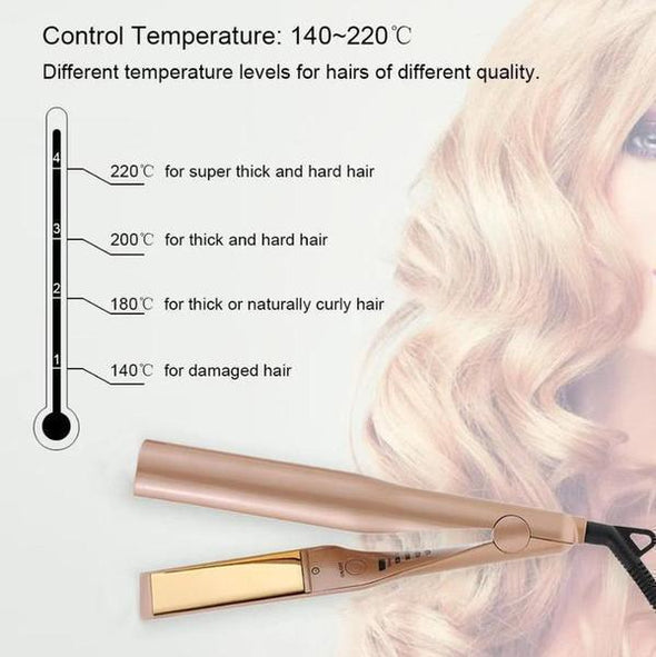 (TODAY BUY TWO GET ONE FREE)  80% OFF TODYA 2 IN 1 Professional Safe Hair Straightener Curler