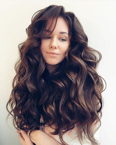 Big brown wave wig - fashionwigstyle.com