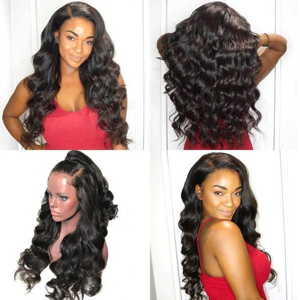 Black long hair curly wig