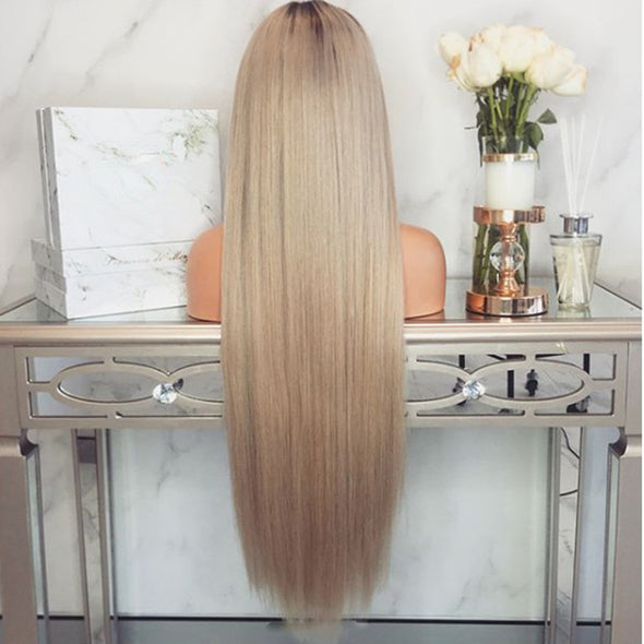 Gold Straight Long Wig