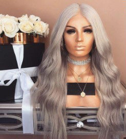 Gradient Champagne Long Wavy Wig