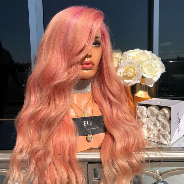 Long Wave Orange Wig