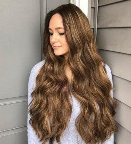 New Fashion Brown Long Wavy Wig