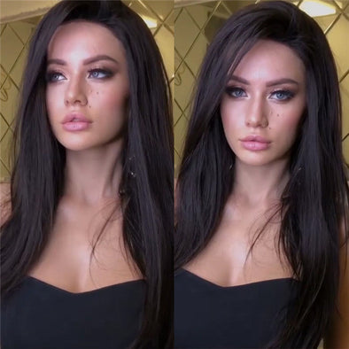 Long Straight Hair Black Wig