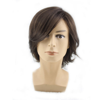 Handsome anime cosplay male realistic male hair festival party wig
