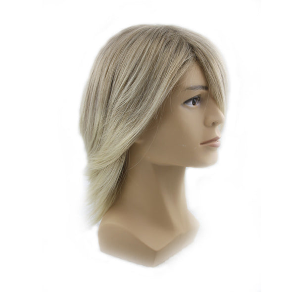 Cos anime gold male hair festival party straight wig